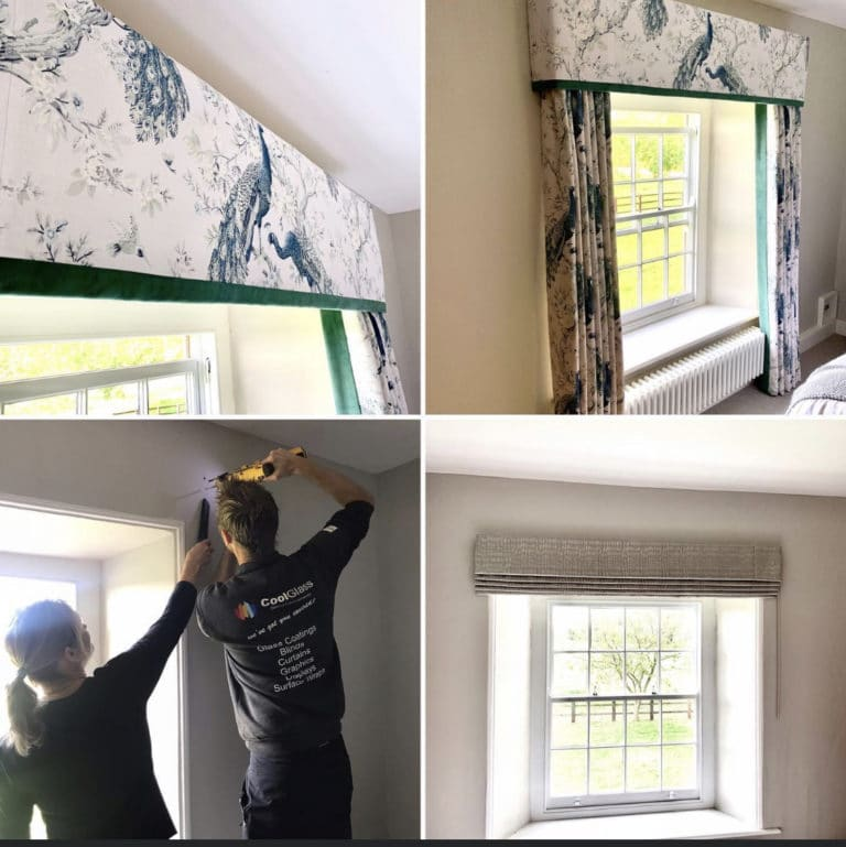 before and after of blind installation